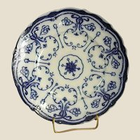 Antique Flow Blue New Wharf Plate Conway Pattern 1890-94