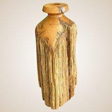 Rustic Wood Dried Flower Vase Flower Holder