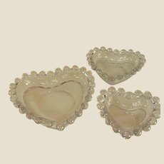 Candlewick by Imperial Glass Small Heart Dishes