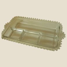 Candlewick by Imperial Glass Rectangular Divided Relish Dish