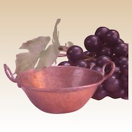 Miniature Solid Copper Two-Handled Pot/Pan