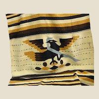 1930-40s Aztec Native Tenochtitlan Hand Woven Wool Blanket