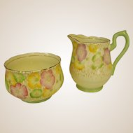 Cheery Collingwoods English Creamer and Open Sugar