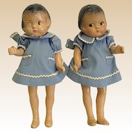 Pair of Small Depression Era Composition Dolls – Patsy Look