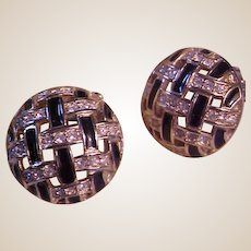 Vintage Swarovski Clip-On Earrings
