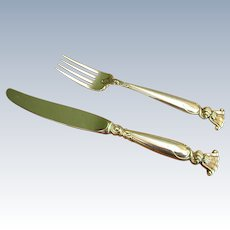 Wallace Sterling Romance of the Sea Youth Knife and Fork