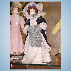 Rare Find!  Set of 20 WPA Historically Dressed Dolls