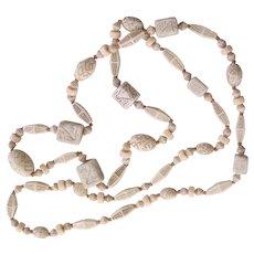 Neiger Egyptian Revival Art Deco Czech Beads Necklace