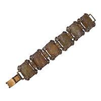 Big Cabochon Bead Book Chain Bracelet