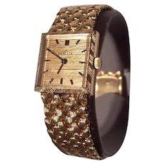 14K Gold Angelus Wristwatch 14K Gold Woven Band Unisex