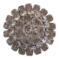 Eisenberg Layered Silver tone Flower Brooch