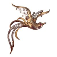 Trifari Alfred Philippe Bird of Paradise in Flight Brooch