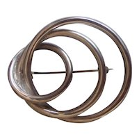 Sterling Silver Intertwining Circles Brooch