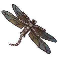 Plique a Jour KJL Kenneth Jay Lane Dragonfly Brooch