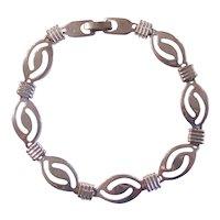 Sterling Silver Modern Style Link Bracelet