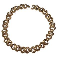 Hugs & Kisses X O Erwin Pearl Necklace Gold tone