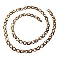 Vintage Monet Gold tone Link Necklace