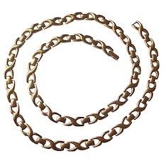 Vintage Monet Gold tone Link Necklace