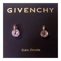 Givenchy Cubic Zirconia Gold tone Earrings on Card