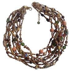 Joan Rivers Multi Color Torsade Necklace