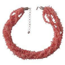 Pink Coral Jay King DRT Desert Rose Trading Torsade Necklace