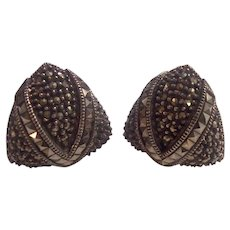 Judith Jack Sterling Marcasite Earrings