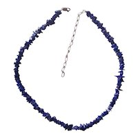 Lapis & Sterling Silver Necklace Southwestern Style