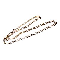 Long Rectangular Link Gold tone Monet Necklace