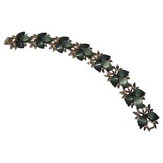Green Moon glow Leaves Thermoset Bracelet