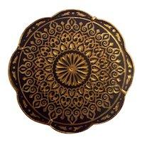 Lovely Damascene Moorish Patterns Brooch