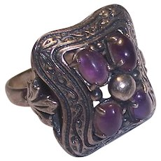 Gem Craft Sterling Silver Amethyst Ring