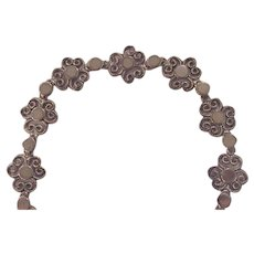 Sterling Silver Floral Bracelet by Beau