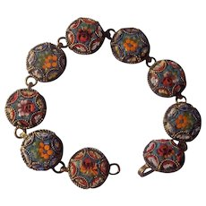 Older Italian Micro Mosaic Link Bracelet