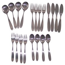 Lauffer Magnum Norway 18/8 Stainless Flatware 20pc Towle