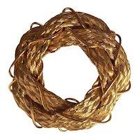 Hobe Bright Gold Hair Barrette Clip France