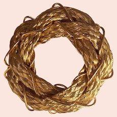 Hobe Bright Gold Hair Barrette Clip France