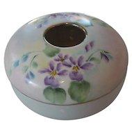 Violet Iris Hair Receiver PK Silesia Porcelain