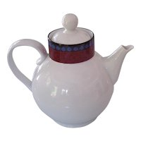 Dansk Quiltings Ruby Flowers Tea or Coffee Pot