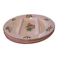 3 Keller & Guerin Luneville France Old Strasbourg Asparagus Plates