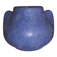 McCoy Pottery Blue Art Vellum Vase