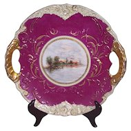 Royal Vienna Style Landscape Plate Beehive Austria