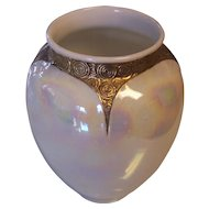 Royal Bayreuth Bavaria Pearlized Art Deco Design Vase