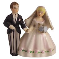 Lefton Japan Bride and Groom Cake Topper Figurine