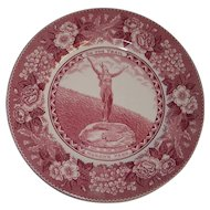 Mohawk Park Hail to the Sunrise Adams Staffordshire Souvenir Plate