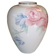 Lenox Porcelain Chatsworth Vase with Roses