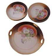 Handsome 7 Pc German Porcelain Dessert Set