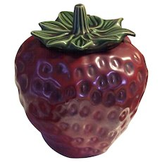 McCoy Pottery Red Strawberry Cookie Jar 263 - Red Tag Sale Item