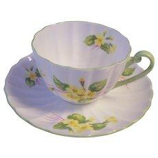 Lovely Shelley England Primrose Tea Cup & Saucer Fine Bone China