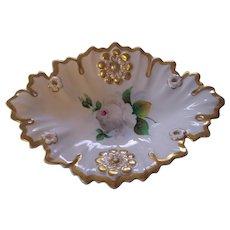 KPM 19th Century Krister Porcelain Floral Serving Platter Dish