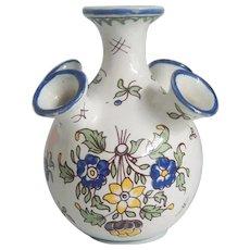Decor Moustiers Fait Main France HP Bud Vase